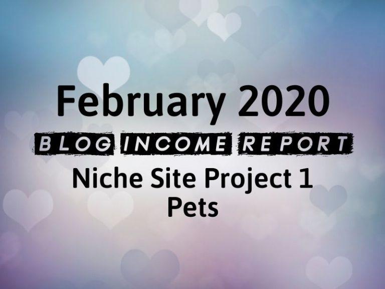 Niche Site Project 1 – February 2020 Update