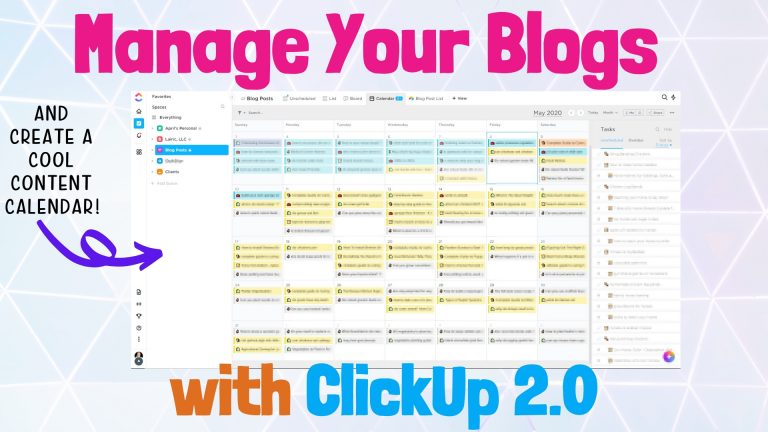 ClickUp Setup for Bloggers