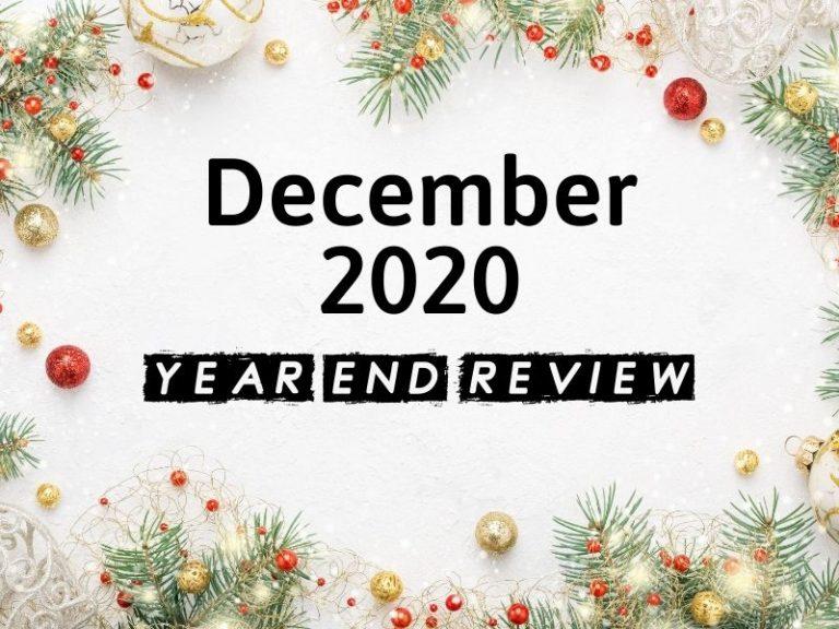 December 2020 Income Report & Blog Update