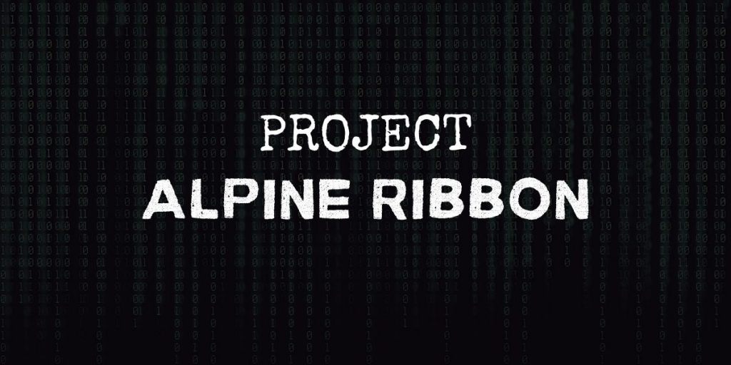 """code background with text that reads """"project alpine ribbon"""""""