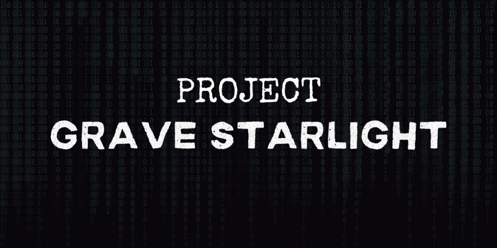 """code background with text that reads """"project grave starlight"""""""