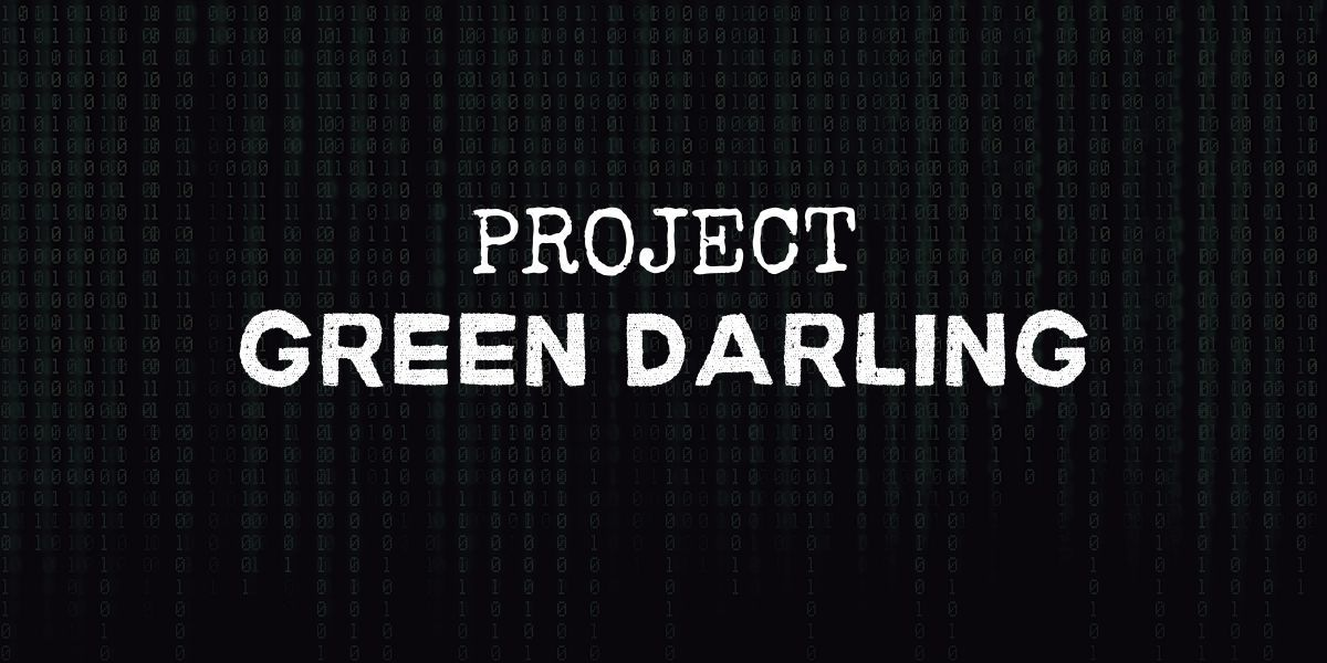 """code background with text that reads """"project green darling"""""""