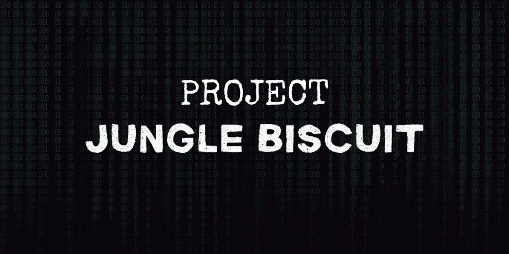 """code background with text that reads """"project jungle biscuit"""""""