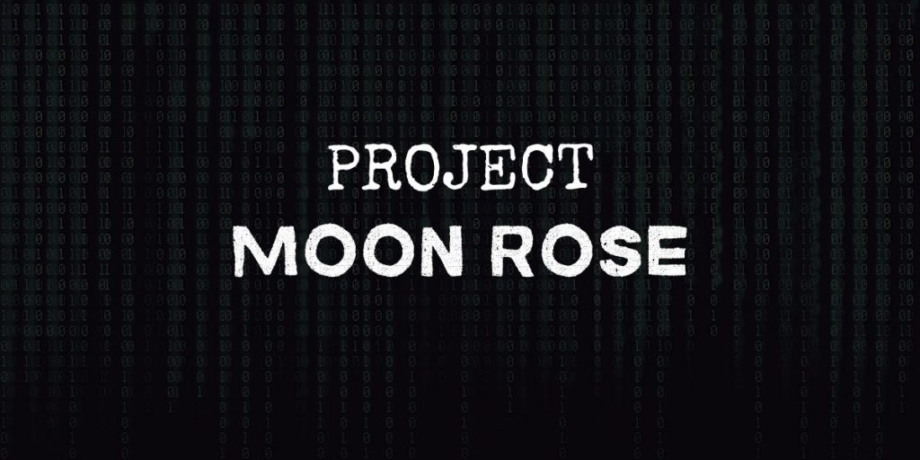 """code background with text that reads """"project moon rose"""""""