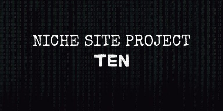 Niche Site Project 10 – Sewing