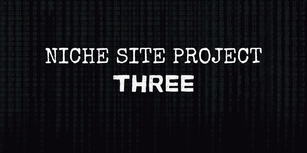 """code background with text that reads """"niche site project 3"""""""